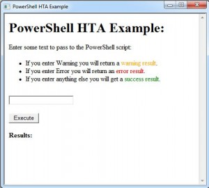 Using HTML Applications as a PowerShell GUI - HTA Example