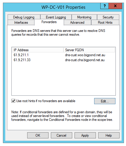 Add DNS forwarding to your DNS Server
