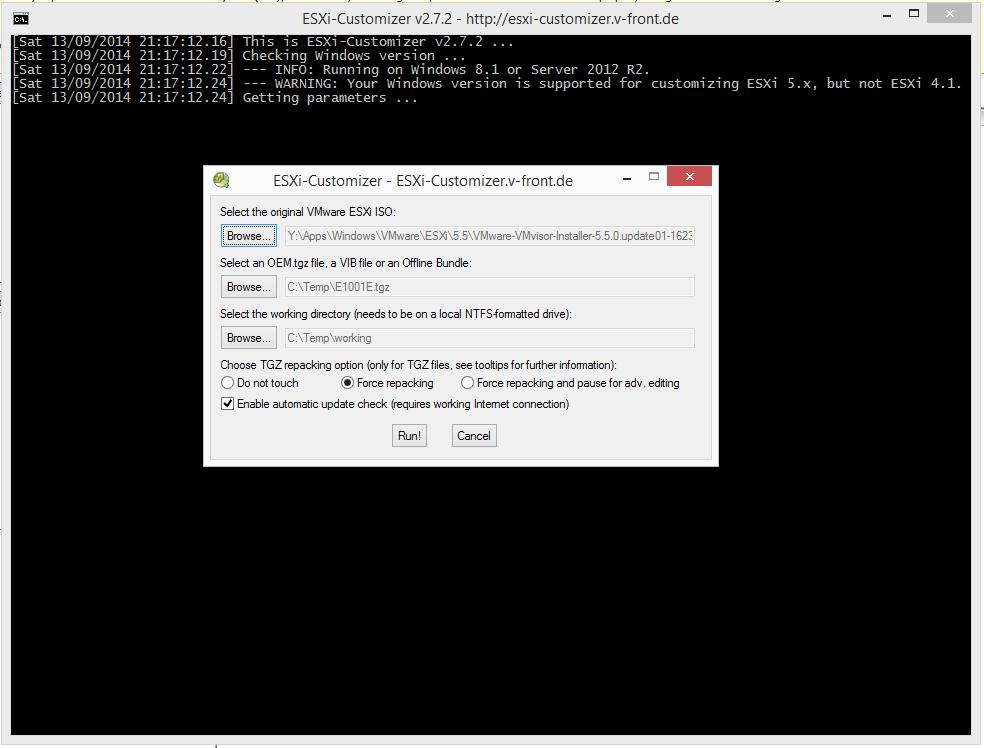 VMware ESXi Customizer