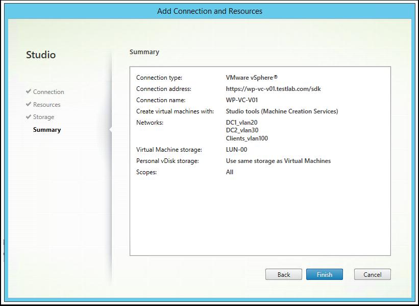 XenApp 7.6 Install - Part 5: Configure VMware vCenter Integration ...