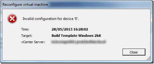 Invalid Configuration For Device 0